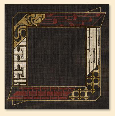 oriental frame 11x 11 18 mesh no rt228